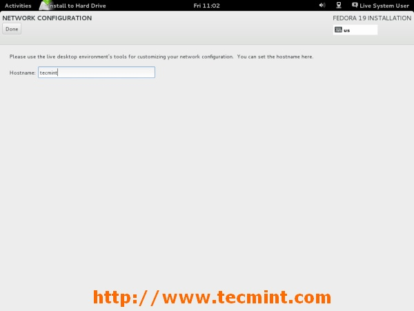 Add Fedora 19 Hostname