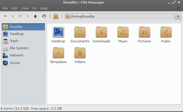 Linux Lite Folders