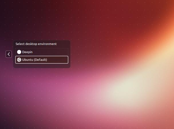 Linux Deepin Login Selection