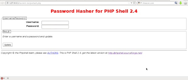 PHP Shell Password Hasher