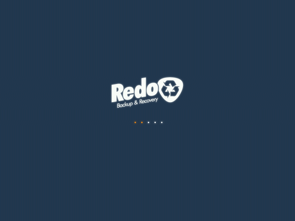 Redo Backup Welcome Screen