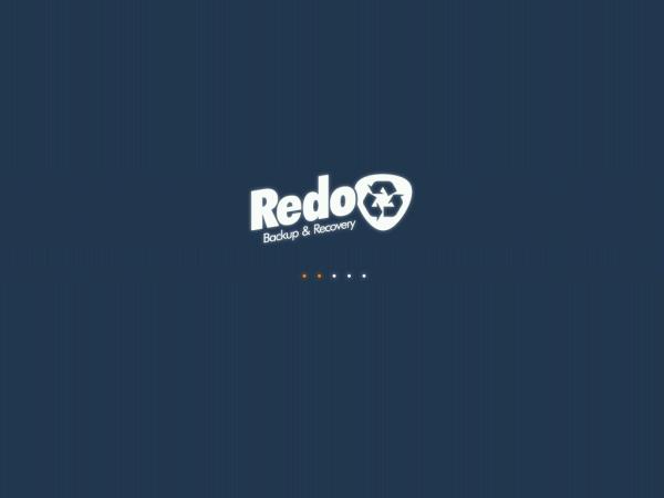 Redo Backup Welcome Screen