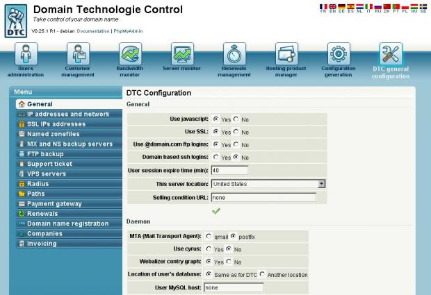 DTC Control Panel