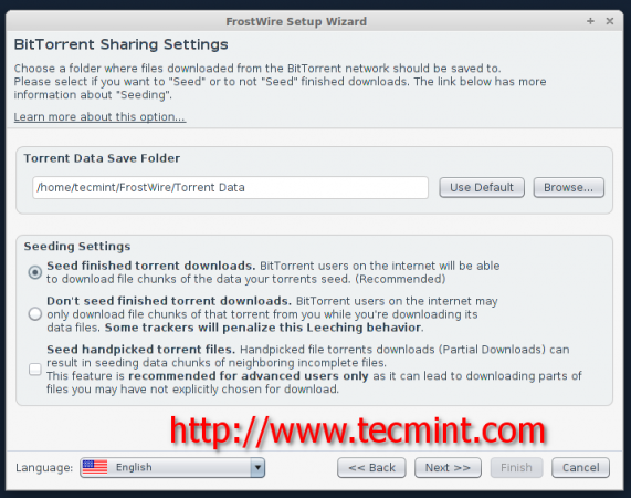 BitTorrent Sharing Settings