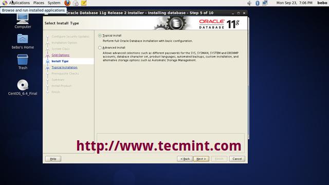 Oracle Database 11g Release 2 Installation on RHEL/CentOS 6