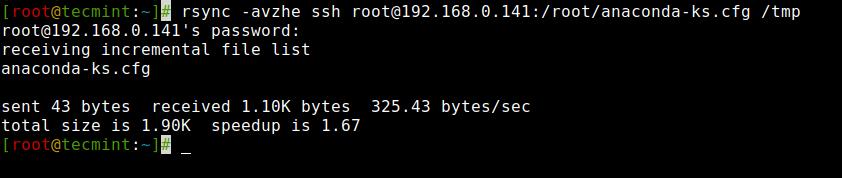 Rsync Copy Remote File to Local