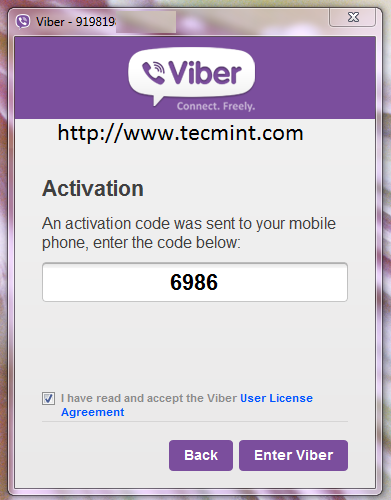 Viber Activation Code