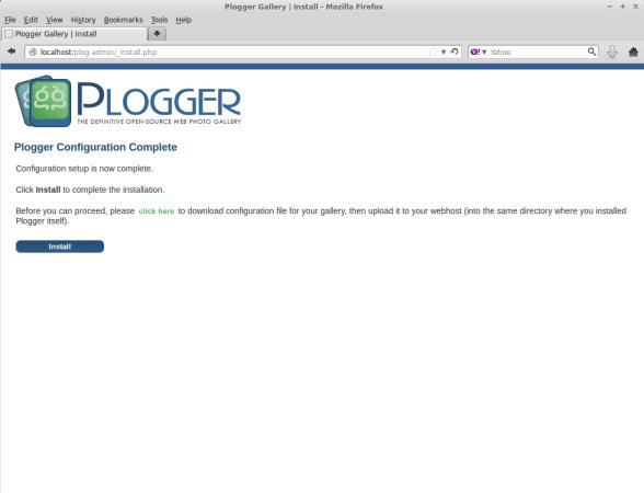Plogger Configuration Script