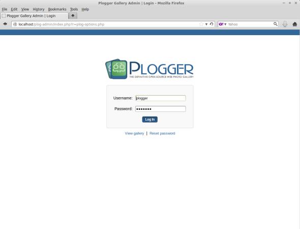 Plogger Admin Login