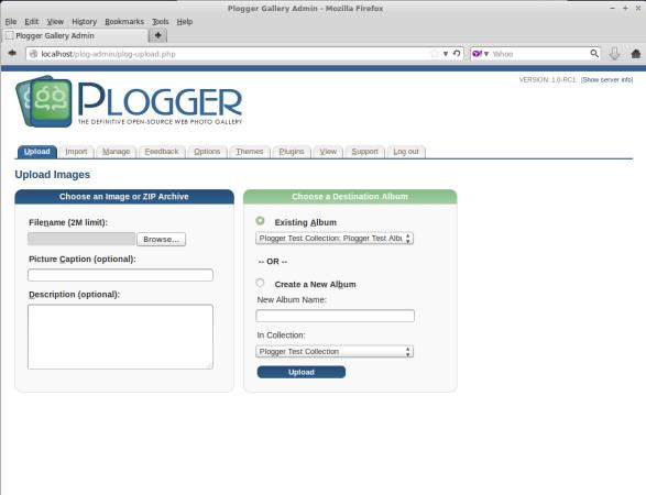Plogger Image Upload