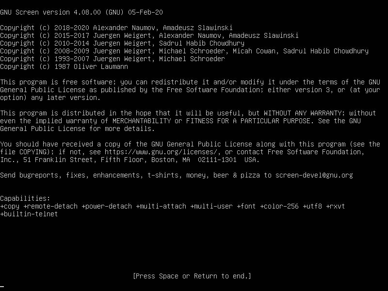 Screen Terminal Program