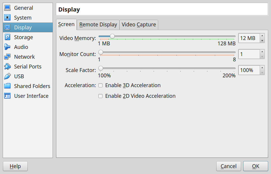 Virtualbox Video Capture
