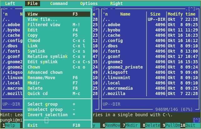 linux yum install midnight commander