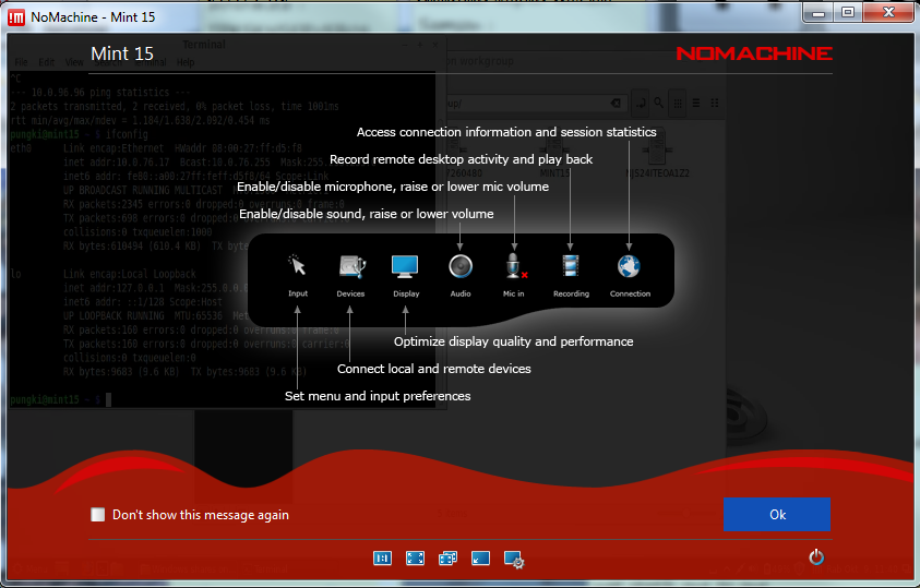 NoMachine screenshot