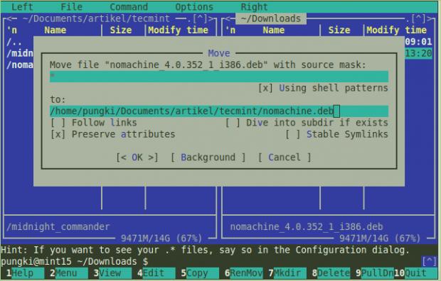 Mover archivos en Linux