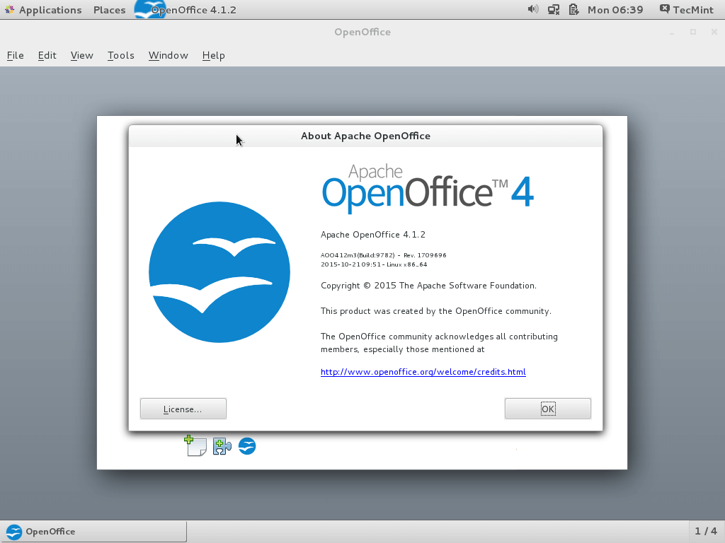 About Apache OpenOffice 4.1.2