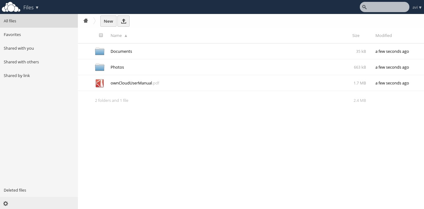 OwnCloud Admin Panel