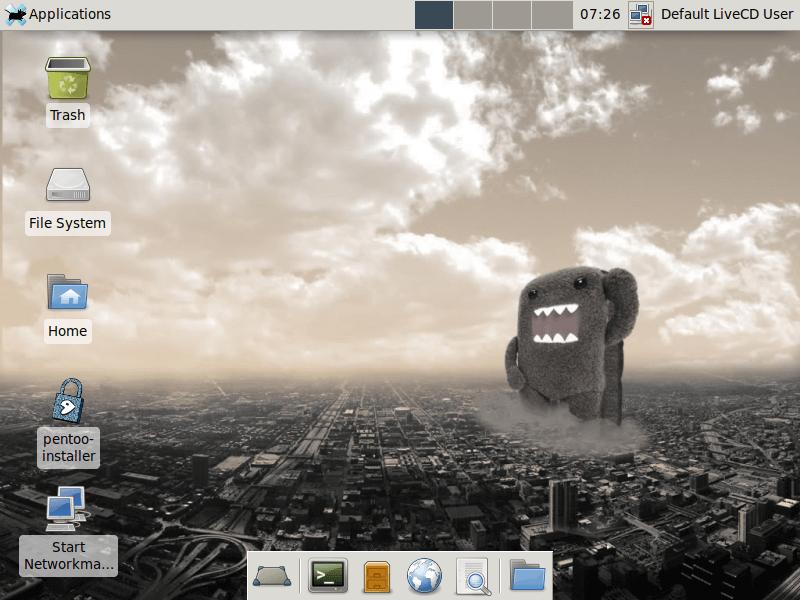 Pentoo Linux Desktop