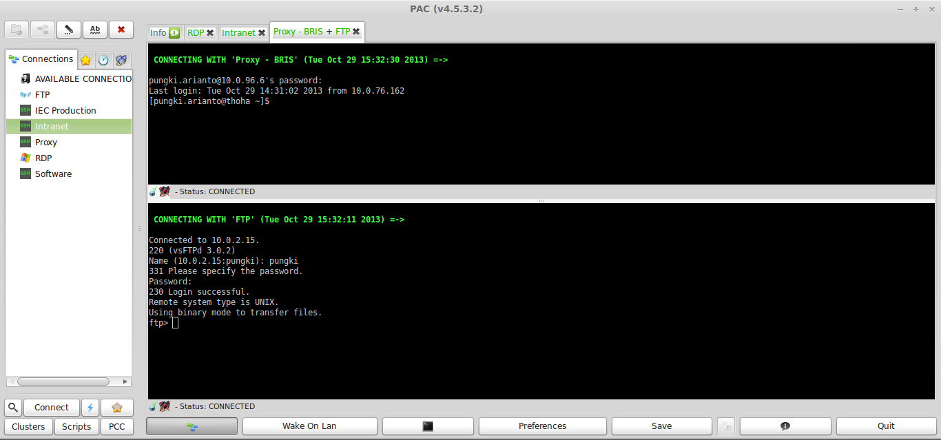 PAC Manager: A Remote SSH/FTP/Telnet Session Management Tool