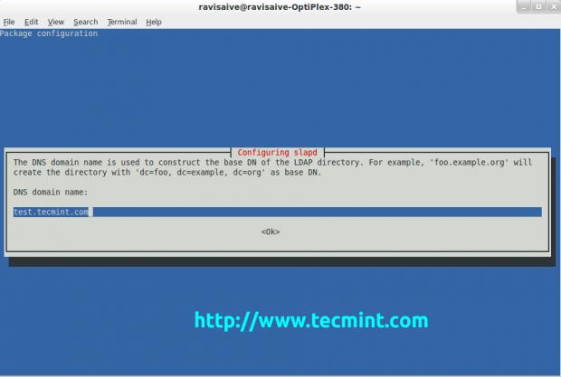 Set DNS Name for Ldap