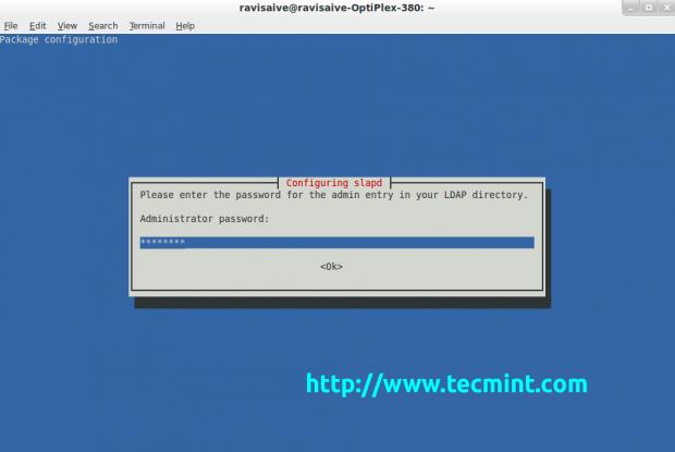 Enter Ldap Administrative Password