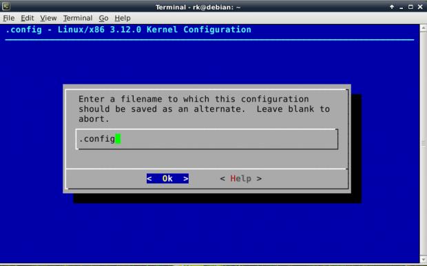 Save Kernel Config