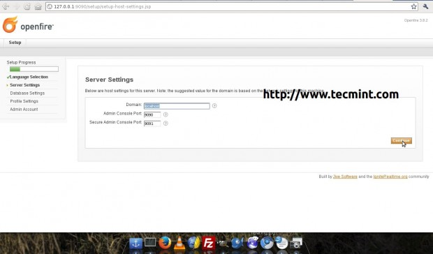 Openfire Server Settings