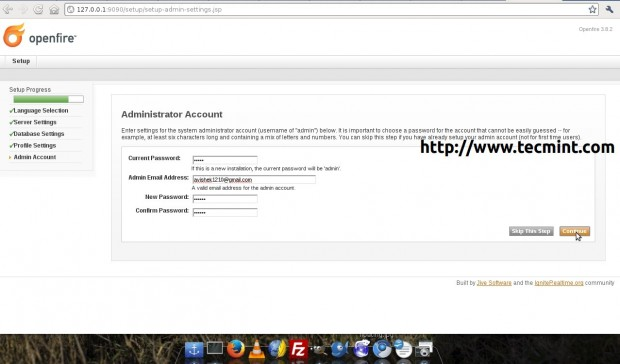 Openfire Administration Account