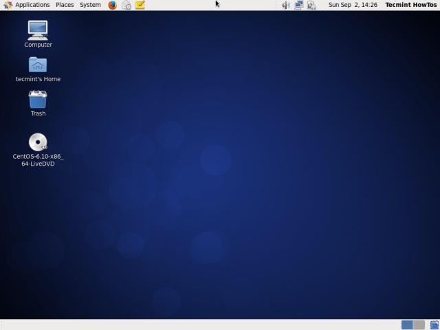 CentOS 6.10 Desktop