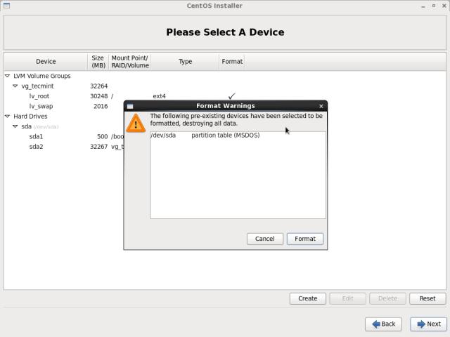 CentOS 6.10 Disk Formatting