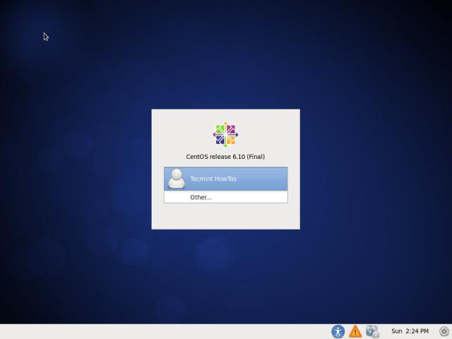 CentOS 6.10 Login