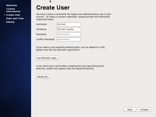 CentOS 6.10 User Account