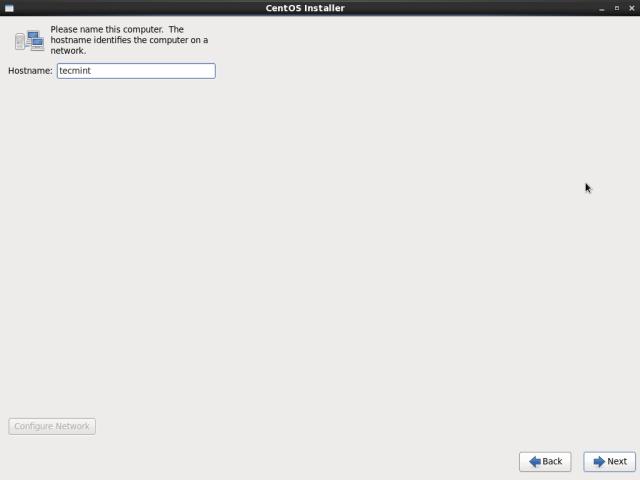 Set CentOS 6.10 Hostname