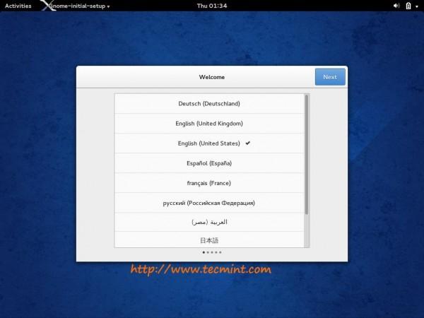 GNOME Initial Setup