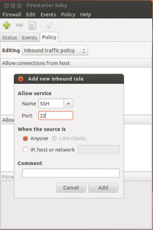 Allow SSH Service