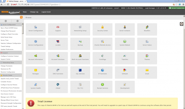 cPanel Server Configuration