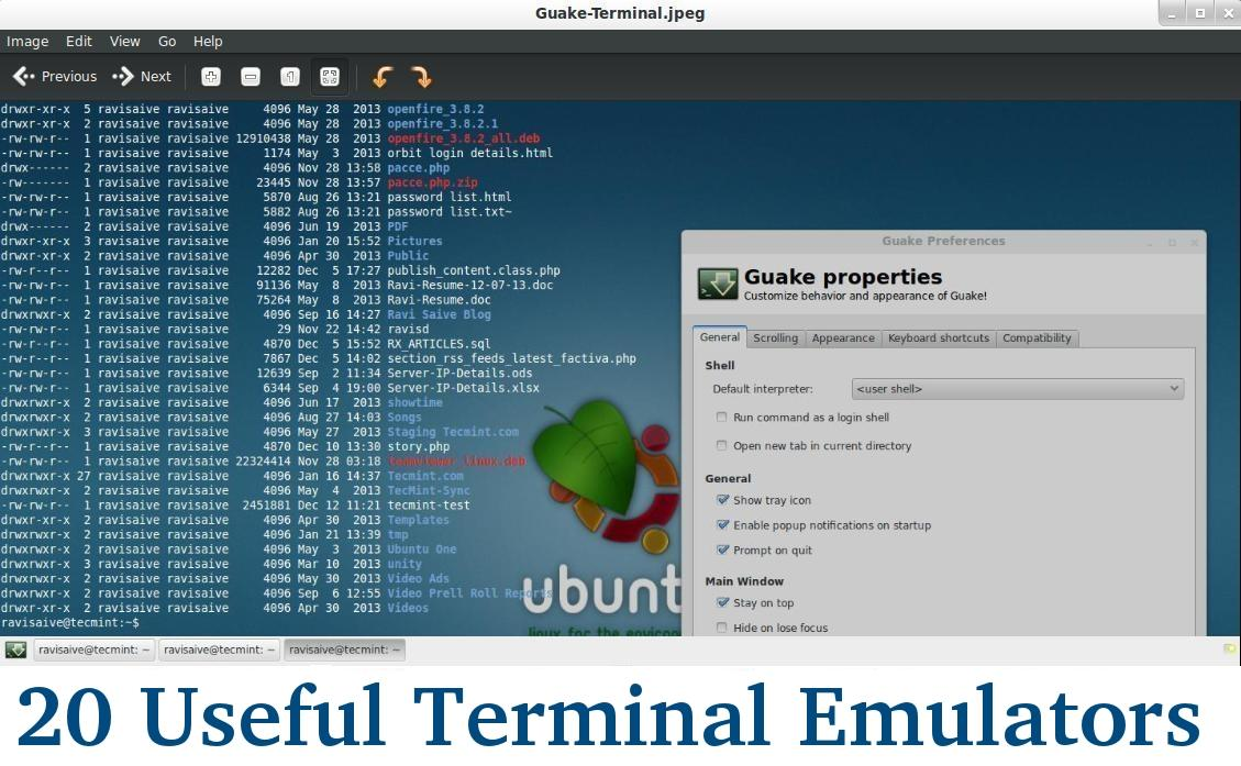 Linux Terminal Emulators