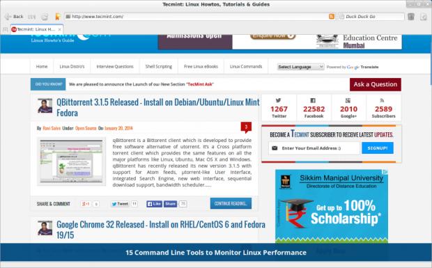 Midori Web Browser