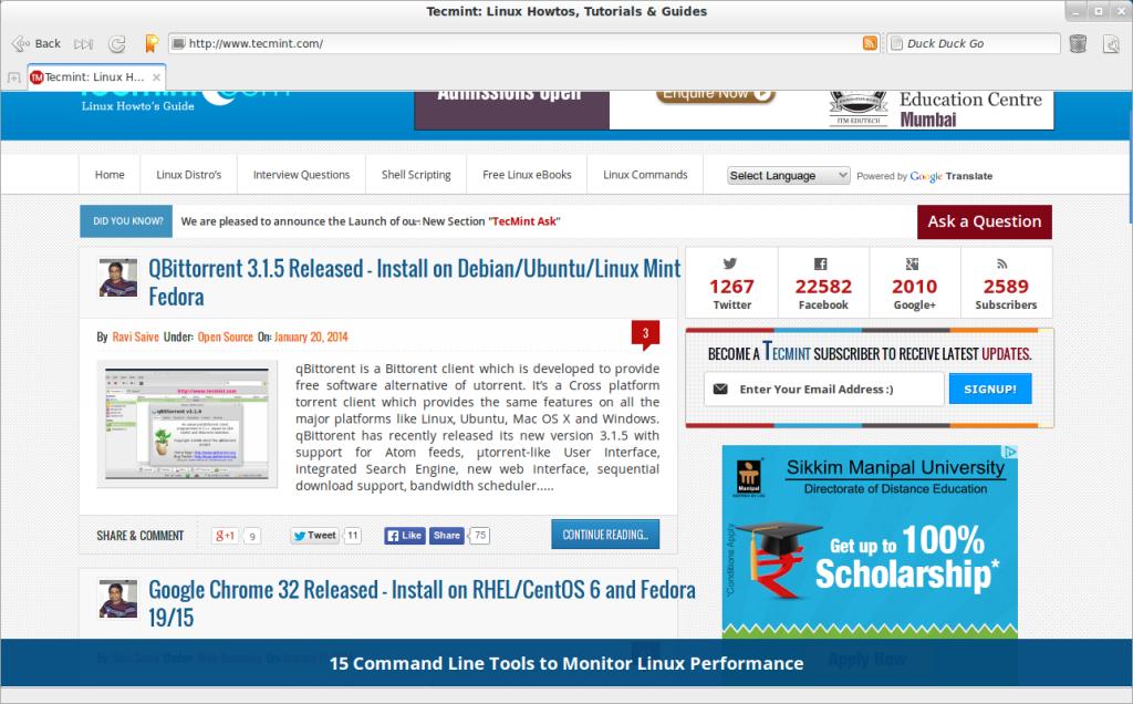 Midori Web Browser 0 5 7 Released - Install in Debian/Ubuntu