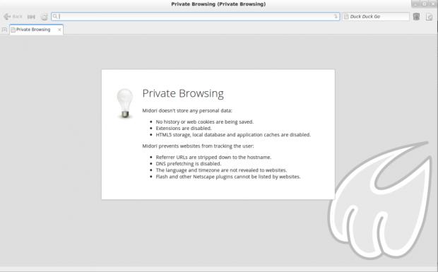 Midori Private Browsing