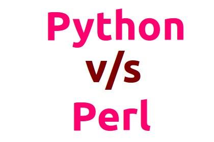 Python vs Perl