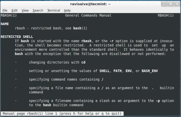Restrict Linux Commands