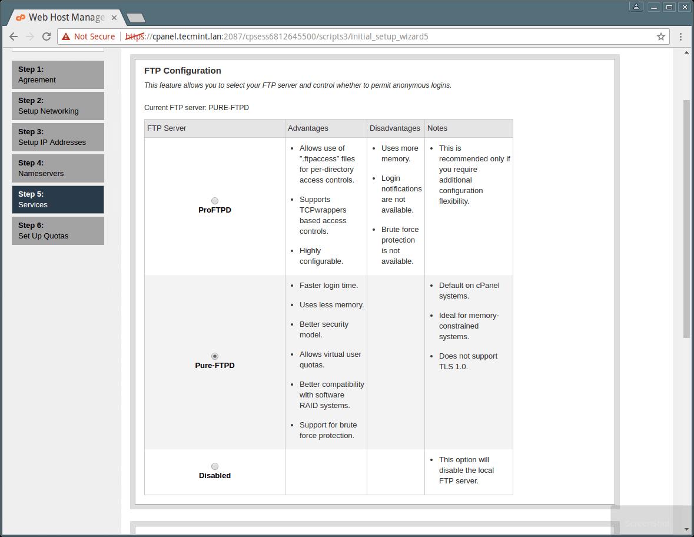 cPanel WHM FTP Setup