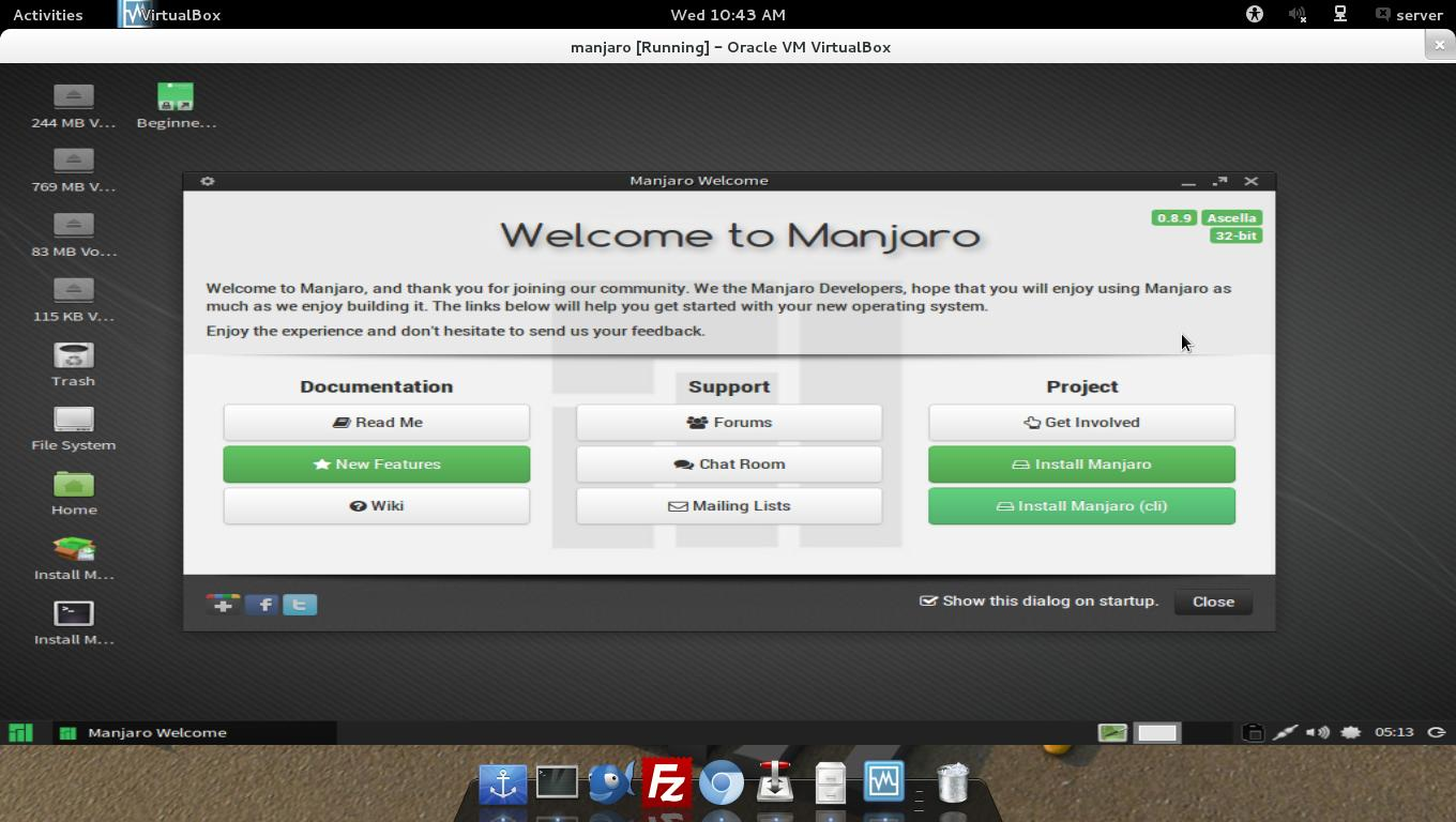 Welcome to Manjaro Desktop