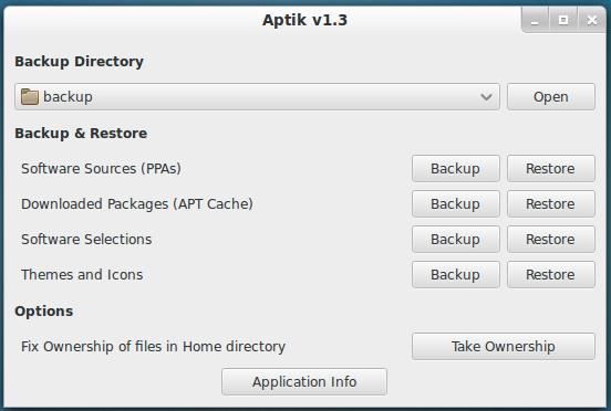Install Aptik in Ubuntu