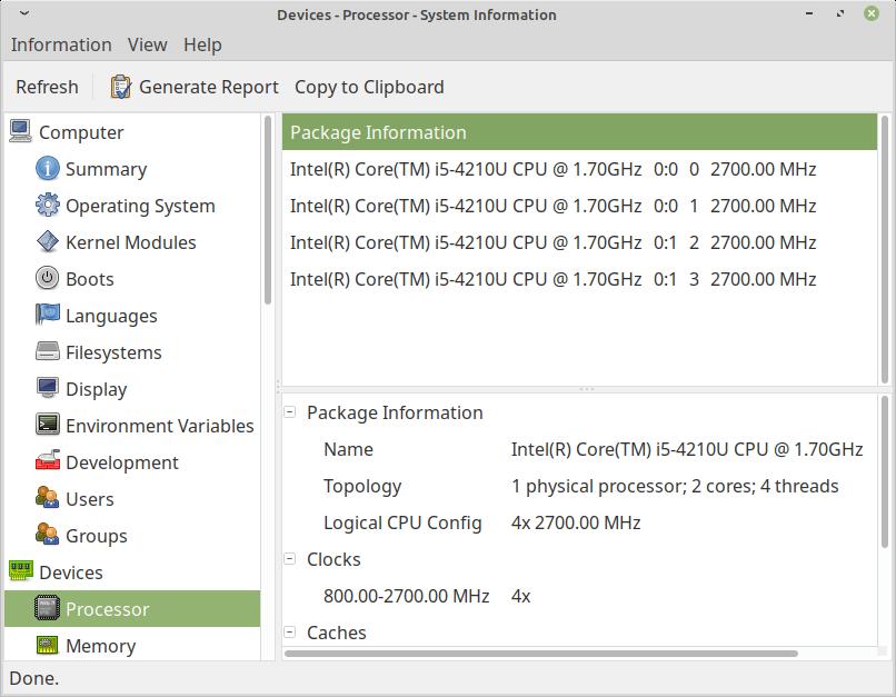 Check Linux System Processor Info
