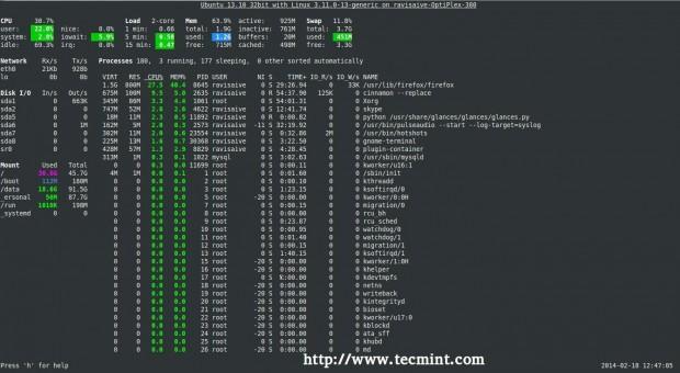 Install Glances in Ubuntu