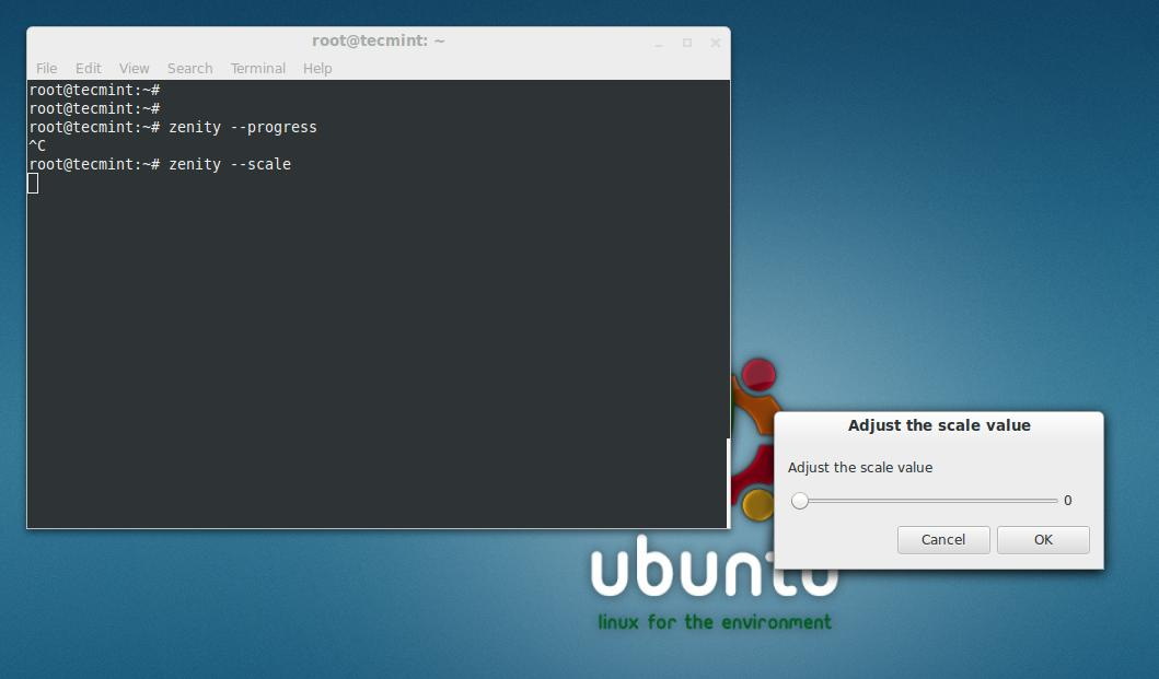 Zenity - Creates Graphical (GTK+) Dialog Boxes in Command