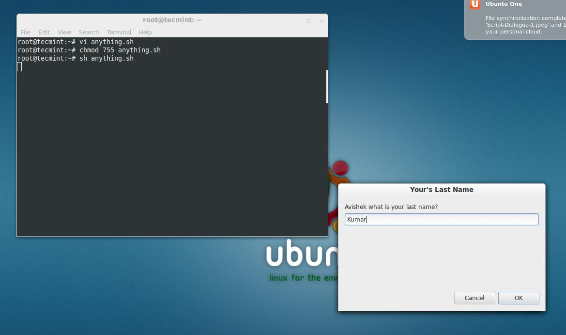 Zenity - Creates Graphical (GTK+) Dialog Boxes in Command-line and