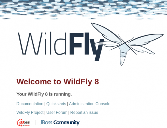 Wildfly Welcome Screen
